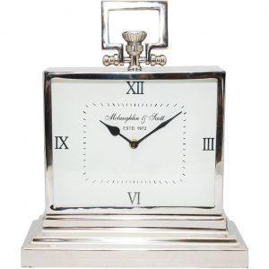 Mantel Clock - McLaughlin & Scott Clock Co - Polished Chrome