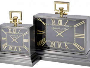 McLaughlin & Scott - Brass & Black Mantel Carriage Clock