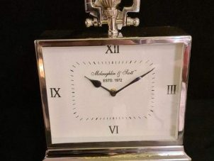 Mantel Clock - McLaughlin & Scott - Polished Chrome Mantel Clock