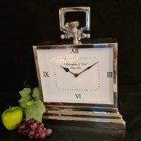 Mantel Clock - McLaughlin & Scott - Polished Chrome Mantel Clock