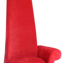 Red Velour Fabric Potenza Chair - Left Arm