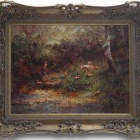 Hendrick Breedveld - Ducks and Ducklings in a Woodland Glade