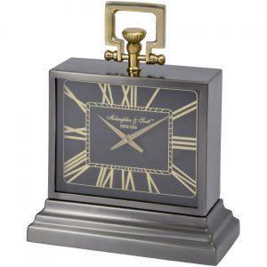 Mantel Clock - 'McLaughlin & Scott' Clock Co - Brass & Polished Black Chrome - Small
