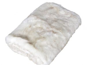 Fur Throw - Large Cream Mixed Luxury Long Haired Fur Throw