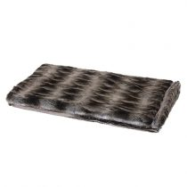 Luxury Dual Coloured Striped Fur Bed Throw