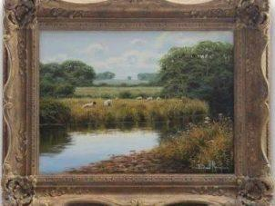 Original Oil Painting - 'Countryside' By David Morgan