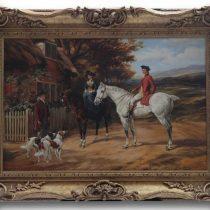 Glynn Williams Olde England Original Oil on Panal