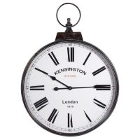 Round Wall Clock - 'Kensington Station' - Carry Handle Design