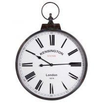 Round Wall Clock - 'Kensington Station' - Carry Handle Design