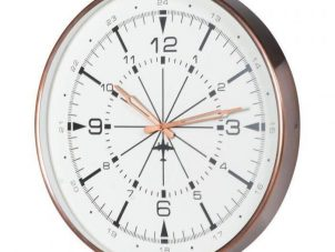 Wall Clock - Round Copper Surround - White Face Wall Clock
