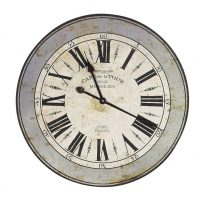 Wall Clock - Round 'Cafe De La Tour' Wall Clock - Roman Numerals