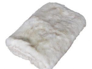 Luxury Large Cream Mixed Long Haired Faux Fur Throw