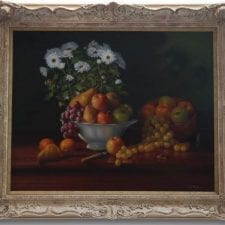 Erik Gleave - Still Life with Fruit and Daisies