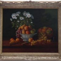 Original Oil Painting - 'Fruit & Daisies' By Erik Gleave