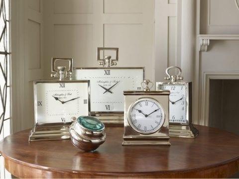 McLaughlin & Scott Polished Chrome Rectangular Clock