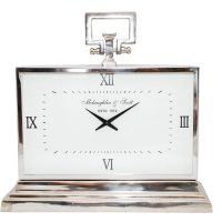 Mantel Clock - McLaughlin & Scott - Large Polished Chrome Mantel Clock