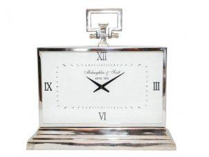 Mantel Clock - McLaughlin & Scott - Large Polished Chrome Mantel Clock