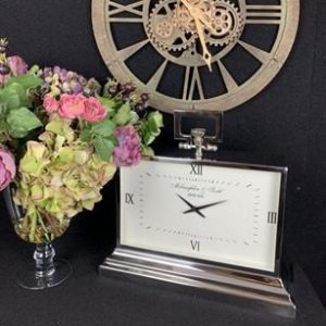 Mantel Clock - McLaughlin & Scott Clock Co - Polished Chrome Finish