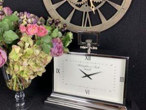 Mantel Clock - McLaughlin & Scott Clock Co - Polished Chrome Finish