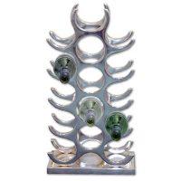 Wine Rack - 15 Bottle Aluminium Wine Rack - Counter Top - Chrome Finish