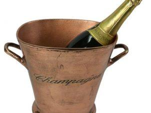 Wine Cooler - Wine/Champagne Ice Bucket - Copper Metal Finish