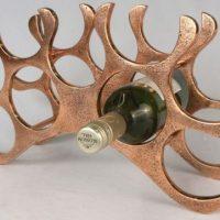 Wine Rack - 9 Bottle Aluminium Wine Rack - Table Top - Copper Finish