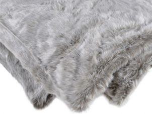 Luxury Fur Throw - Extra Large Silver Shimmer Faux Fur Throw
