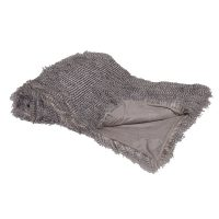 Luxury Fur Throw - Long Haired Grey Speckled Large Faux Fur Throw