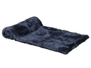 Luxury Fur Throw - Midnight Blue Shimmer Short Haired Large Faux Fur Throw