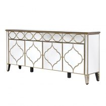 Four Door Venetian Mirrored Sideboard
