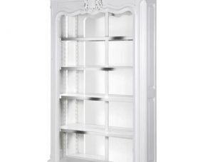 Wall Unit/Display Cabinet - High Gloss White - Mirrored Back - Dorchester White Range