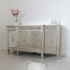 Barcelona Antique Mirrored Large Sideboard
