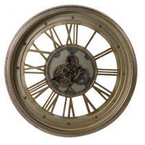 Large Round Moving Centre Cog Designer Wall Clock - Roman Numerals