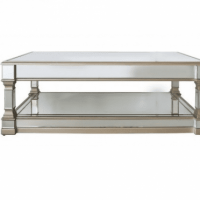 Coffee Table - Champagne Edged - Mirrored Finish - Mirrored Furniture Range