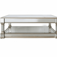 Mirrored Furniture Range - Champagne Edged Mirrored Oblong Coffee Table