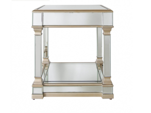 Lamp Table - Champagne Edged - Mirrored - Mirrored Furniture Range