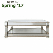 Apollo Champagne Mirrored Oblong Coffee Table