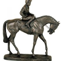 Race Horse on Race Day Sculptured in Bronze
