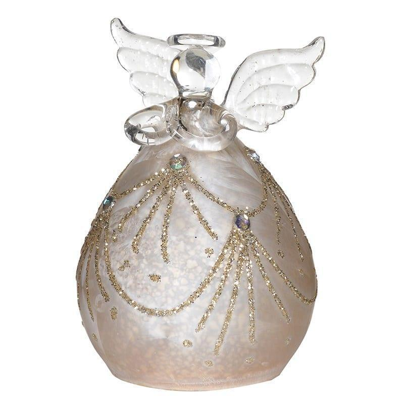 Large Led Light Up Christmas Tree Glass Bauble Angels