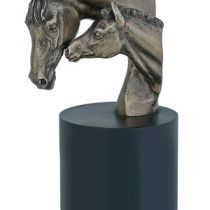 Mare and Foal Heads - Bronze