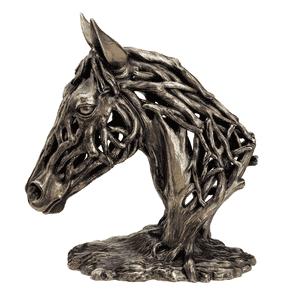 Cold Cast Bronze Statue - Driftwood Style Design - Horse Head