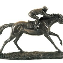 Horse & Jockey Sculptured in Bronze