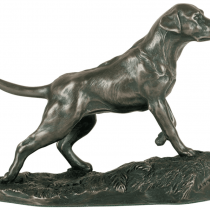 Cold Cast Bronze Statue - Labrador Statue Depicting A Hunting Pose