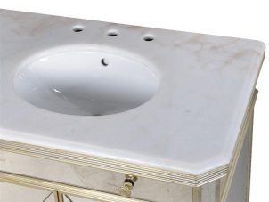 Sink Unit - Large Double Mirrored Sink Unit - Antique Mirrored Range