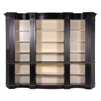 Bookcase - Extra Large Open Front Design - 5 Shelves - French Black Range