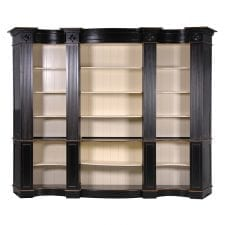 French Chateau Moulin Noir - Large Open Bookcase - Black