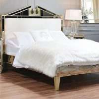 5ft Bed - Antique Mirrored King Size Bed Frame - Antique Mirrored Range
