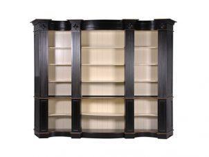Bookcase - Extra Large Open Front Design - 5 Shelves - French Antique Black Range
