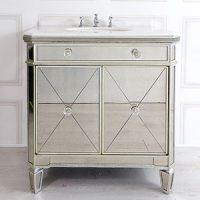Sink Unit - Single Mirrored Sink Vanity Unit - Antique Mirrored Range