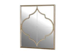 Wall Mirror - Square Moroccan Inspired - Champagne Finish